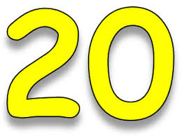 Image result for numbers 20