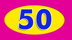 Image result for numbers 50